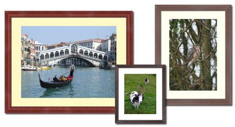 dark wood photo frames
