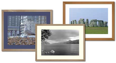 light wood photo frames